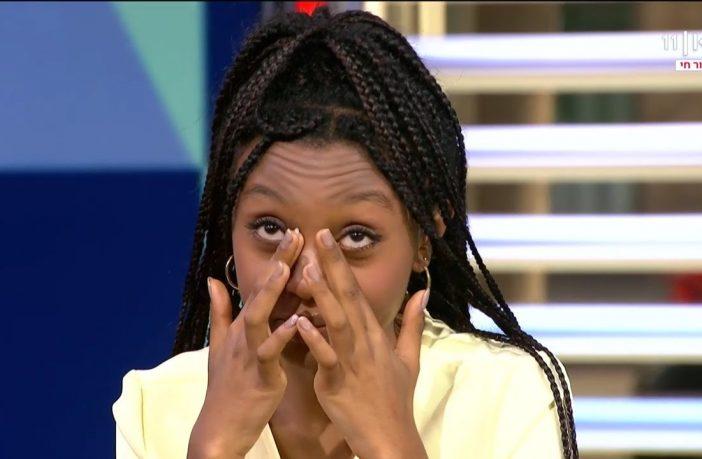 עדן אלנה פורצת בבכי / צילום מסך כאן 11